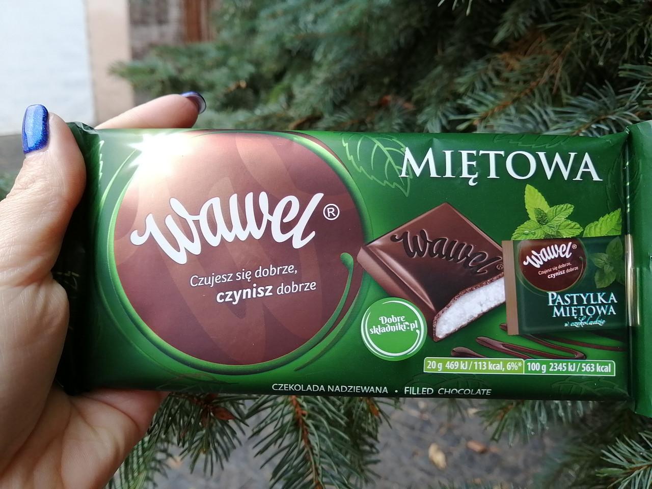 Wawel шоколад с мятой