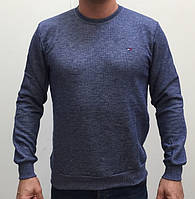 Реглан, свитшот, батник мужской TOMMY HILFIGER (реплика) однотонный синий