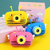 Детский цифровой фотоаппарат Smart Kids 4 с фронтальной камерой 20MP Full HD 1080P 2 камеры Голубой