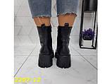 Ботинки на высокой тракторной платформе натуральная кожа зима 37, 38, 40 (2297-12), фото 2