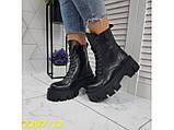 Ботинки на высокой тракторной платформе натуральная кожа зима 37, 38, 40 (2297-12), фото 3