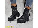 Ботинки на высокой тракторной платформе натуральная кожа зима 37, 38, 40 (2297-12), фото 4