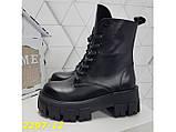 Ботинки на высокой тракторной платформе натуральная кожа зима 37, 38, 40 (2297-12), фото 5