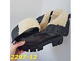 Ботинки на высокой тракторной платформе натуральная кожа зима 37, 38, 40 (2297-12), фото 7