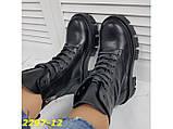 Ботинки на высокой тракторной платформе натуральная кожа зима 37, 38, 40 (2297-12), фото 8