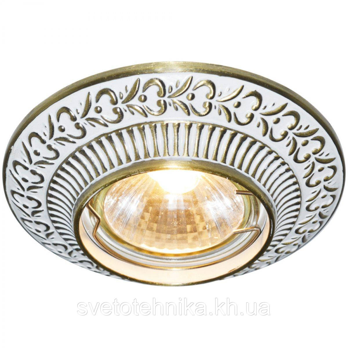 Встраиваемый светильник Feron DL6240 белый золото MR-16
