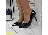 Класичні туфлі на низькому каблуці чорні 36, 38 р. (2390), фото 2