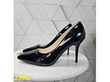 Класичні туфлі на низькому каблуці чорні 36, 38 р. (2390), фото 5