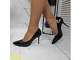 Класичні туфлі на низькому каблуці чорні 36, 38 р. (2390), фото 8