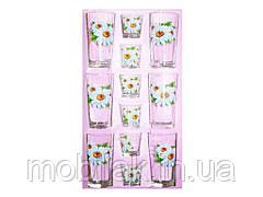 Набір склянок 12пр. вис (6*200мл6*50мл) Ромашка 05с1256 ТМ ОСЗ