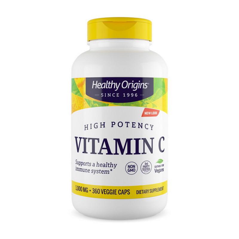 Витамин Ц (L-аскорбиновая кислота) Healthy Origins Vitamin C 1000 mg (360 veg caps)