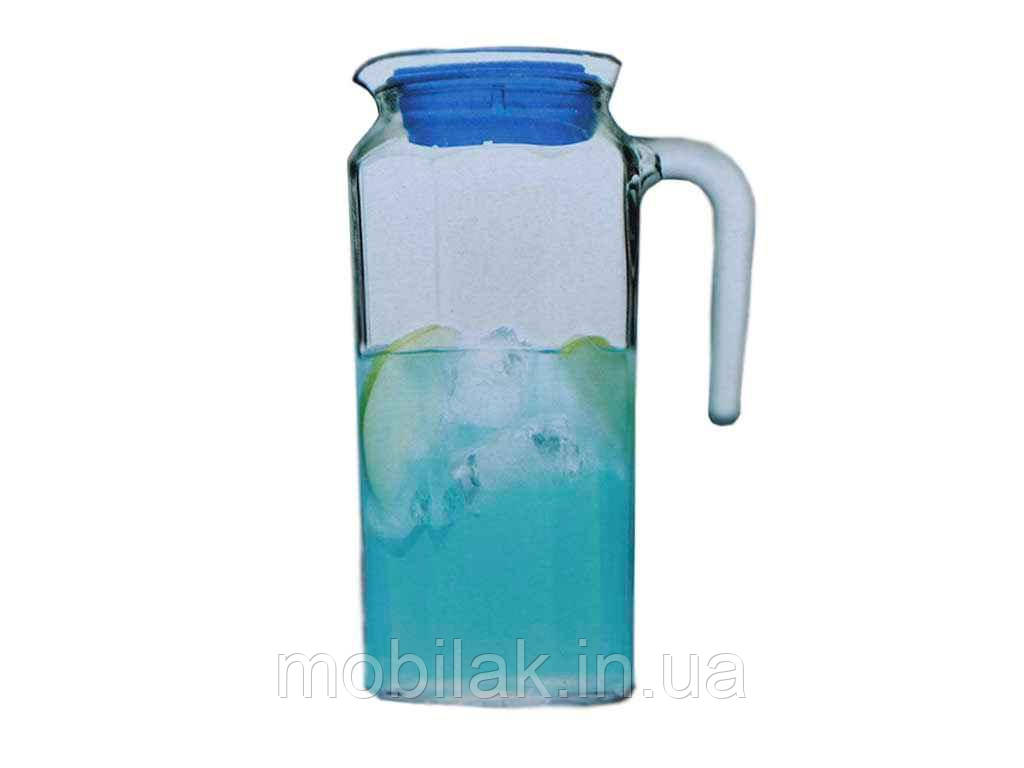 Глечик скляний 1л з пл. кришкою KOSEM 80051 ТМ PASABAHCE