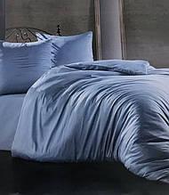 Комплект постельного белья Zugo home сатин однотонный полуторный размер Aqua аква