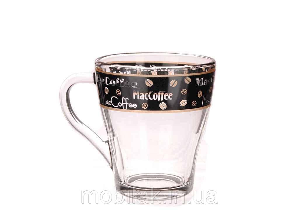 Чашка скляна Грація 250мл Кава чорна ТМ ОСЗ