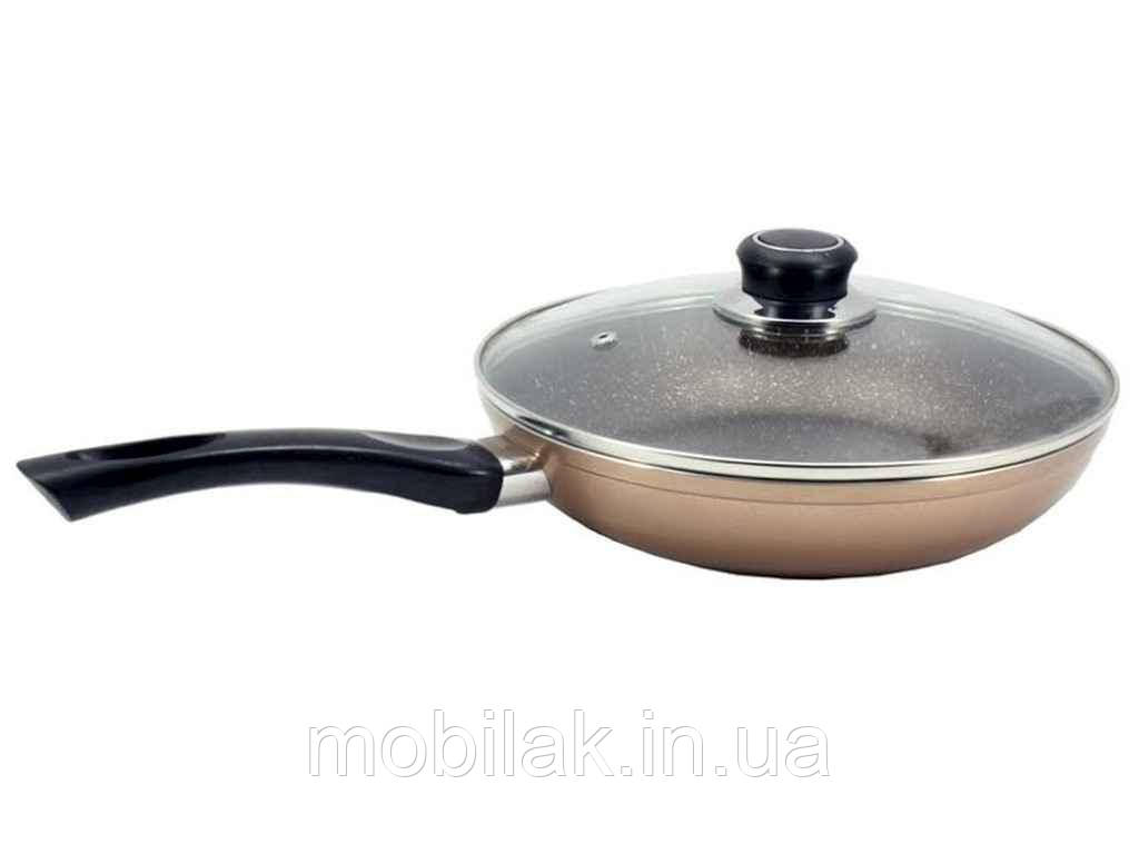 Сковорода ал. d=20 скл/кр Бронза FPM-202 МАРМУР ТМ ZAUBERG