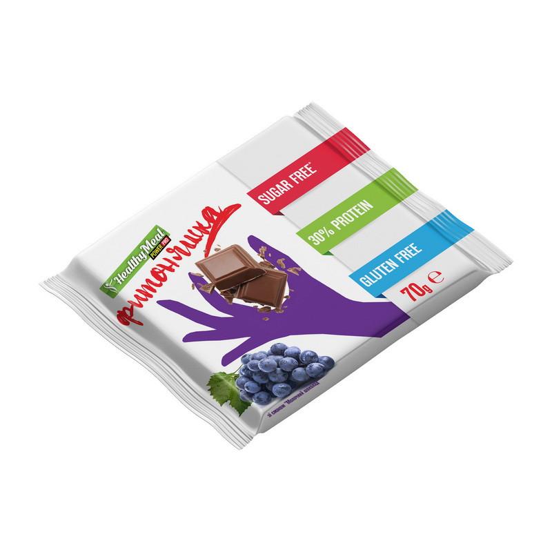 Протеиновая шоколадка Power Pro Плитка протеиновая (70 g) молочный шоколад с изюмом