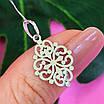 Ажурний срібний кулончик - Кулон мінімалізм срібло - Жіночий срібний кулон без каменів, фото 6