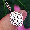 Ажурний срібний кулончик - Кулон мінімалізм срібло - Жіночий срібний кулон без каменів, фото 5