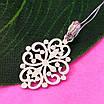 Ажурний срібний кулончик - Кулон мінімалізм срібло - Жіночий срібний кулон без каменів, фото 4