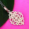 Ажурний срібний кулончик - Кулон мінімалізм срібло - Жіночий срібний кулон без каменів, фото 3