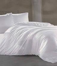 Комплект постельного белья Zugo home сатин однотонный полуторный размер White белый