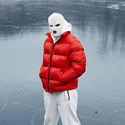 Зимняя мужская куртка Пушка Огонь Homie красная