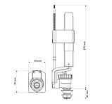 Наполняющий клапан-поплавок нижний латунный 3/8 K.K.-POL Польша ZND/113, фото 2