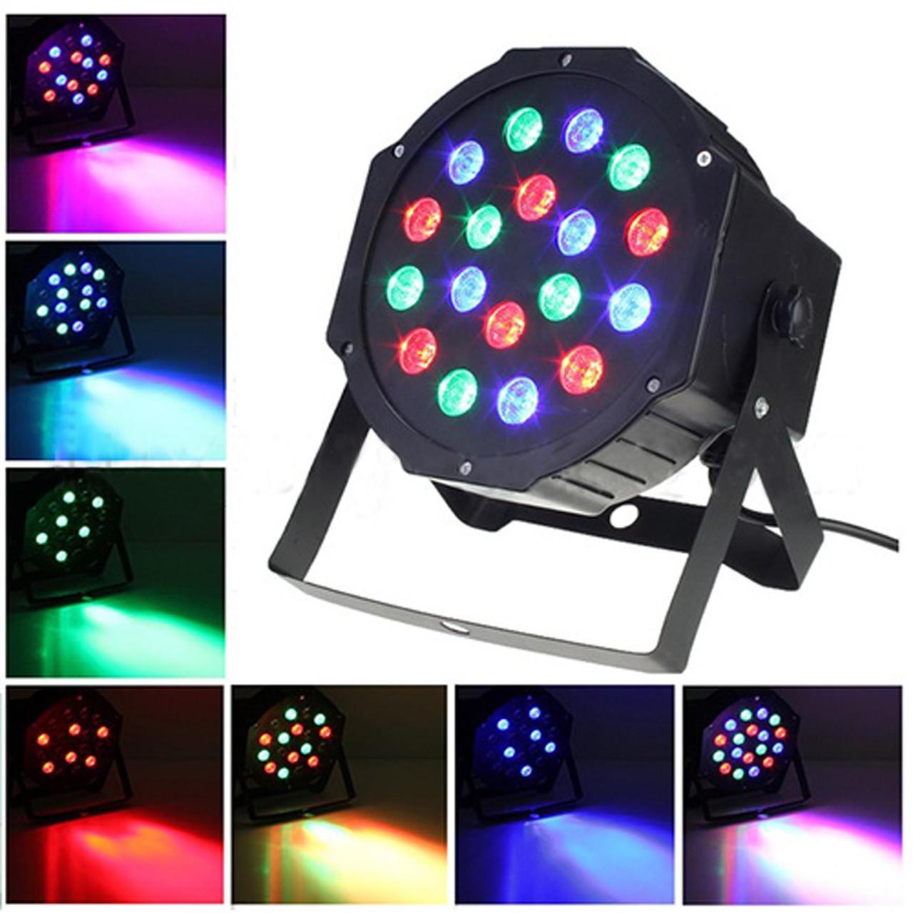 Диско Лазер PAR mini, 18LED, RGB — Лазерный проектор для клубного освещения