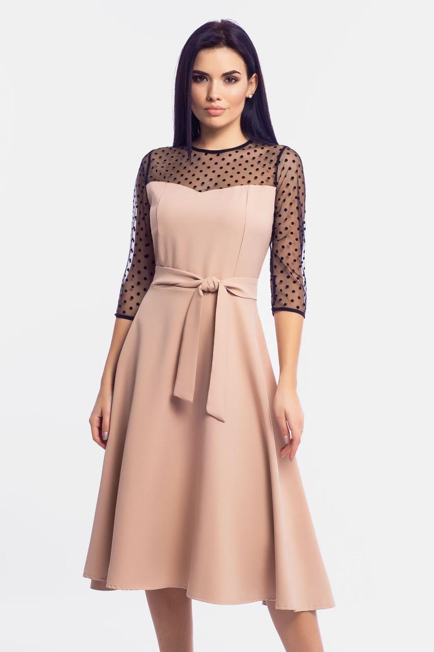 Изысканное женское платье Blade, бежевый