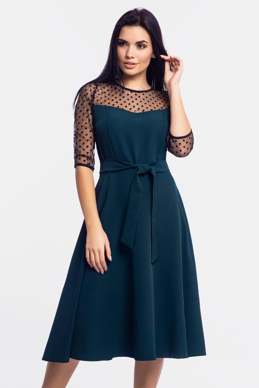 Изысканное женское платье Blade, темно-зеленый