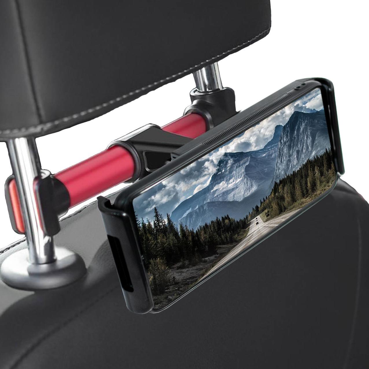 Универсальный авто-держатель на подголовник Backrest car holder, черно-красный  (TS)
