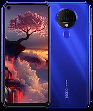 """Смартфон Tecno Spark 6 4/128Gb с большим экраном 6,8"""" с мощной батареей и квадрокамерой синий"""