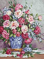Набор для вышивания нитками LUCA-S ЕЁ ВЕЛИЧЕСТВО - РОЗЫ (B605)