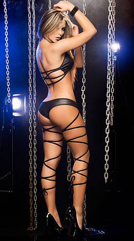 Эротическое черное нижнее белье. Белье для стриптиза. Эротическое белье. Нижнее белье для особых случаев, фото 2