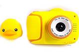 Детский цифровой мини фотоаппарат Cartoon Camera X11 Утенок Желтый Duck 40M, фото 2