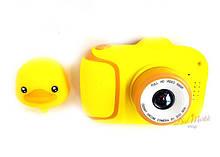 Детский цифровой мини фотоаппарат Cartoon Camera X11 Утенок Желтый Duck 40M