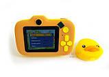 Детский цифровой мини фотоаппарат Cartoon Camera X11 Утенок Желтый Duck 40M, фото 4