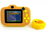Детский цифровой мини фотоаппарат Cartoon Camera X11 Утенок Желтый Duck 40M, фото 3