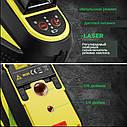 Лазерный уровень FIRECORE F93T-XG 12 линий - Зеленые Лучи + АКБ + Мишень, фото 7
