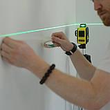 Лазерный уровень FIRECORE F93T-XG 12 линий - Зеленые Лучи + АКБ + Мишень, фото 2