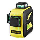 Лазерный уровень FIRECORE F93T-XG 12 линий - Зеленые Лучи + АКБ + Мишень, фото 4