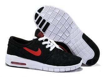 Кроссовки Nike Stefan Janoski Black Red Черные мужские
