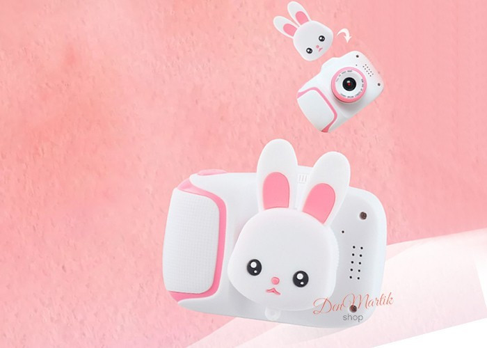 Детский цифровой мини фотоаппарат Cartoon Camera X11 Зайчик Белый 40M Rabbit