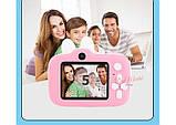 Детский цифровой мини фотоаппарат Cartoon Camera X11 Зайчик Белый 40M Rabbit, фото 2