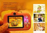 Детский цифровой мини фотоаппарат Cartoon Camera X11 Зайчик Белый 40M Rabbit, фото 3