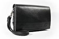 Клатч-сумка средняя кожа PU мужская черная на плечо Fashion 014s, фото 1