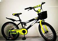 "Велосипед дитячий 20"" S600 чорно-жовтий"