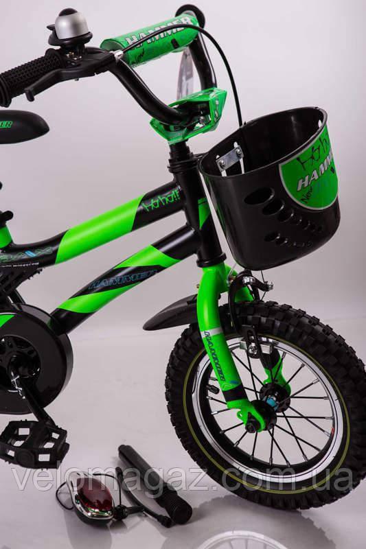 """Велосипед детский 16"""" S600 черно-салатовый"""