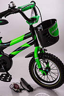 """Велосипед детский 16"""" S600 черно-салатовый, фото 1"""