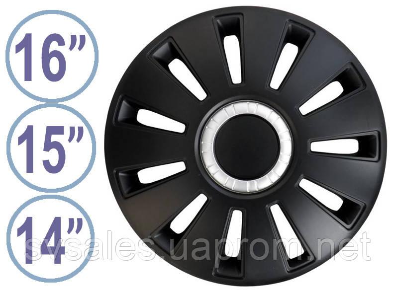 Колпаки колёсные Rex Чёрный Хром (R14, R15, R16)